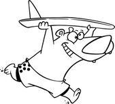 Cartoon Bear Surfer — Stock Vector