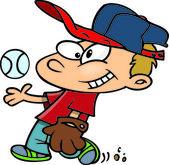 Cartoon Baseball Boy — Stock Vector