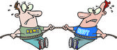 Cartoon Business Tug of War — Stock Vector
