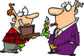 Cartoon Businessman Affluent — Stock Vector