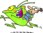 Cartoon Alien Abduction — Stock Vector