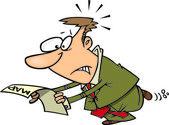 Cartoon Lost Businessman — Stock Vector