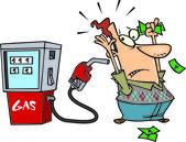 Cartoon High Gas Prices — Stock Vector