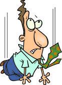 Cartoon zakelijke vrije val — Stockvector