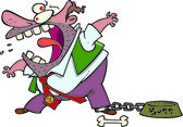 Cartoon Angry Boss — Stock Vector