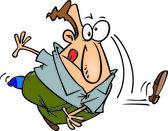 Cartoon Man Throwing His Shoe — Wektor stockowy