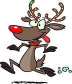 Cartoon Rudolph Running — Stock Vector