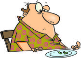 Cartoon Man on Diet — Stock Vector