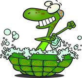 Cartoon Turtle Bathtub — Stock Vector
