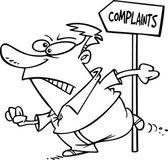 Cartoon Angry Customer — Stock Vector