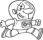 Kreslený astronaut — Stock vektor
