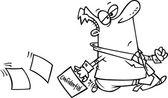 Cartoon Careless Businessman — Stock Vector