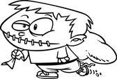 Cartoon Frankenstein Boy — Stock Vector