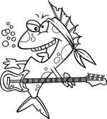 Cartoon Rocker Fish — Stock Vector