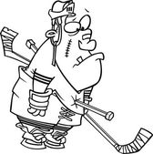 Kreskówka hokej kary — Wektor stockowy