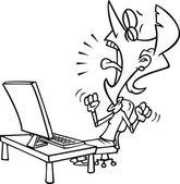 Cartoon Online Opportunity Lost — Stock Vector