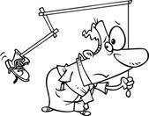 Cartoon Self Motivation — Wektor stockowy