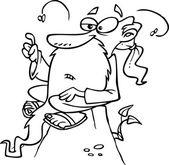 Cartoon Wise Man Prophet — Stock Vector