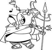 Cartoon Viking Opera Singer — Stock Vector