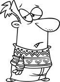 Kreskówka ofiara sweter — Wektor stockowy