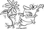 Cartoon Flower Ambush — Stock Vector