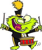 Cartoon Monster Drums — Stock Vector
