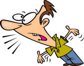 Cartoon Man Complaining — Stock Vector