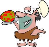 Cartoon Caveman Chef — Stock Vector