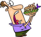 Cartoon Big Sandwich — Stock Vector