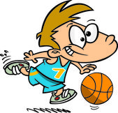 Cartoon Basketball Boy — Stock Vector