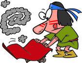 Cartoon Smoke Signals E-Mail — Stock Vector