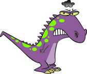 Cartoon Grumposaurus — Stock Vector