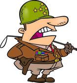 Ordu genel çizgi film — Stok Vektör