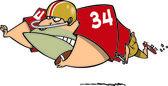 Cartoon Football Fullback — Stock Vector