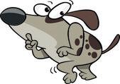Cartoon Sneaky Dog — Stock Vector