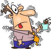 Cartoon Caffeine Overdose — Stock Vector