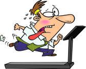 Cartoon Office Treadmill — Stock Vector
