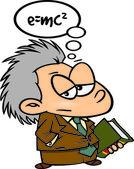 Cartoon Young Einstein — Stock Vector