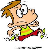 Cartoon Track Boy — Stock Vector