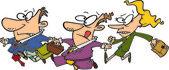 Cartoon Business Stampede — Stock Vector