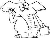 Cartoon Cellphone Elephant — Stock Vector