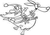 Cartoon Santa Kangaroo — Stock Vector