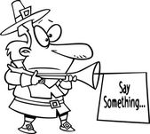 Cartoon Pilgrim Sign — Stock Vector
