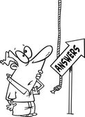 Cartoon Answers — Stock Vector