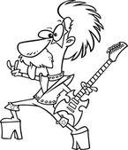 Cartoon Nerd Rock — Stock Vector