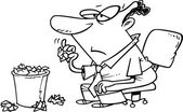 Cartoon Idle Businessman — Stock Vector