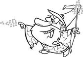 Cartoon Happy Wizard — Stock Vector
