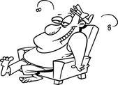Cartoon Lazy Man — Stock Vector