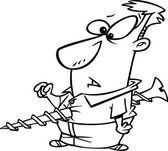 Cartoon Screwed Man — Stock Vector
