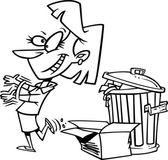Cartoon uit met de oude — Stockvector